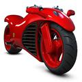Красный супербайк будущего Ferrari Motorcycle