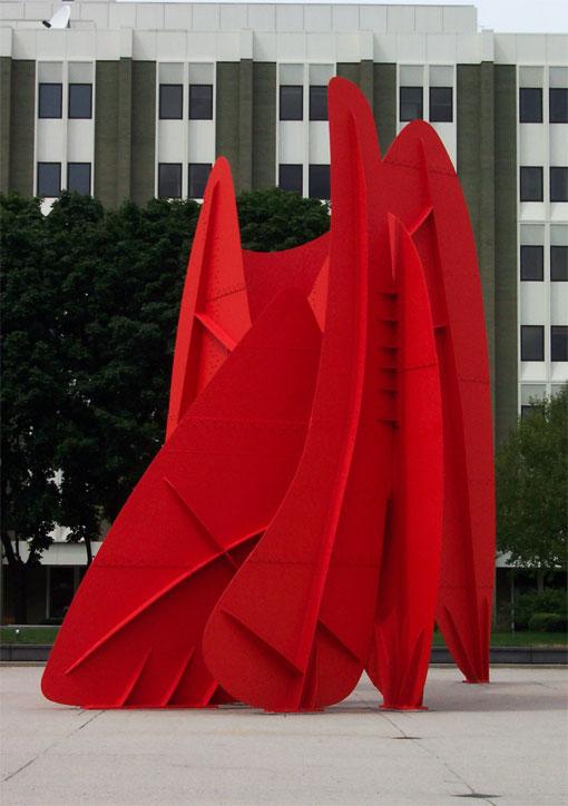 Скульптура La Grande Vitesse Александра Колдера