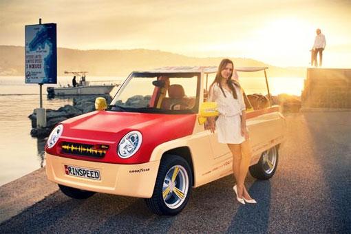 Первый в мире красный интернет-автомобиль Rinspeed BamBoo