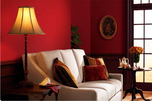 Красный цвет в дорогих интерьерах