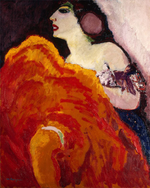 Красный цвет в искусстве Кес ван Донген «Красная танцовщица»