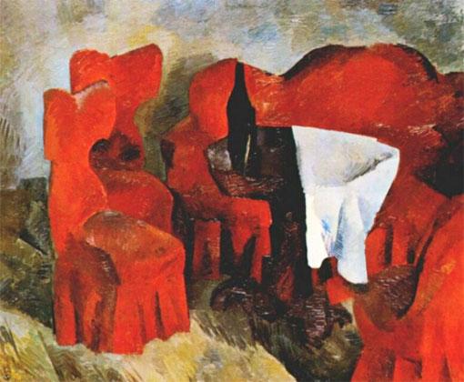 Красный цвет в искусстве Роберт Фальк «Красная мебель»