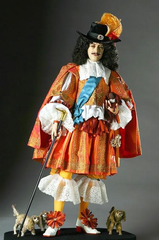 Король Карл II в обуви на высоком каблуке