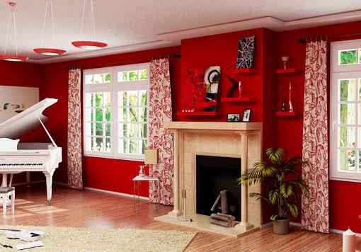 Рубиновый оттенок заставит вашу гостиную сверкать