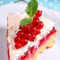 Тарт (пирог) с красной смородиной и сметаной заливкой