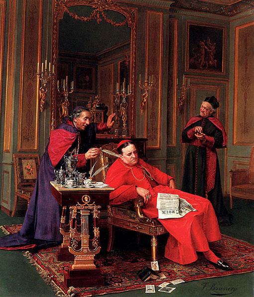 Почему облачение кардинала католической церкви красного цвета