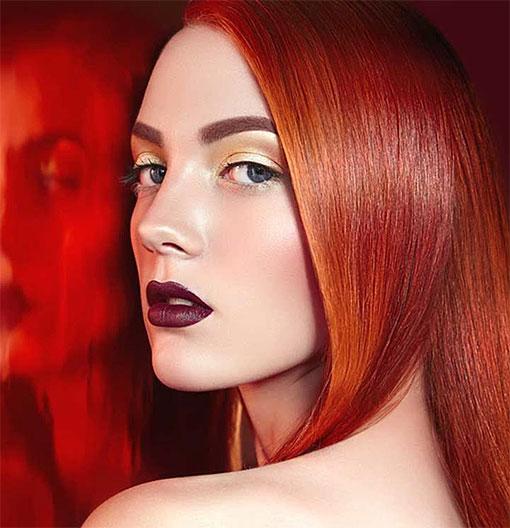 Медно-красный цвет волос