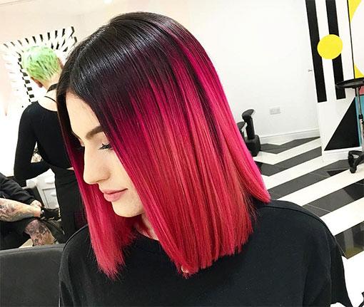 Черно-красный цвет волос