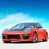 Красно-оранжевый тюнинг Porsche Panamera Stingray GTR от TopCar