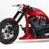 Красный хардкорный мотоцикл Iceman 2 от кастомайзера Маркуса Вальца
