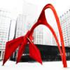 Самая известная красная скульптура Александра Колдера «Фламинго» в Чикаго