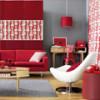 Как правильно сделать дизайн интерьера гостиной в красном цвете