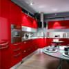 Как правильно сделать дизайн интерьера кухни в красном цвете