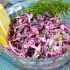 Пошаговый рецепт приготовления салата из краснокочанной капусты