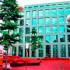 Красная квартира под открытым небом в швейцарском городе Санкт-Галлен