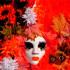 Красные цвета на фото венецианского карнавала в Италии 2014 года
