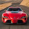 Toyota впервые представила потрясающий красный спорткар FT-1