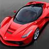 Гибридный горячий итальянский красный «жеребец» Ferrari LaFerrari