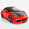 Фирменный красный тюнинг для кабриолета Porsche 911 от TopCar