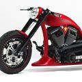 Красный хардкорный мотоцикл Iceman 2