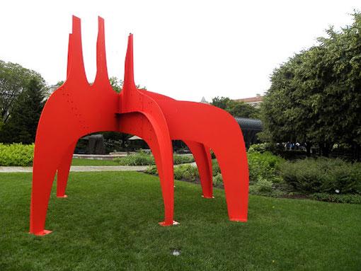 Скульптура Calder Cheval Rouge Александра Колдера