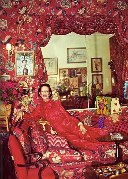 Красный цвет в искусстве Диана Вриланд