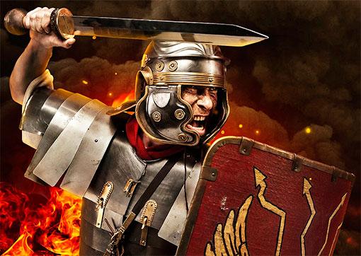 Красный цвет в военной одежде римской армии являлся преобладающим