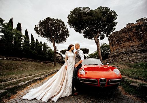 Красный цвет всегда в моде на свадьбе