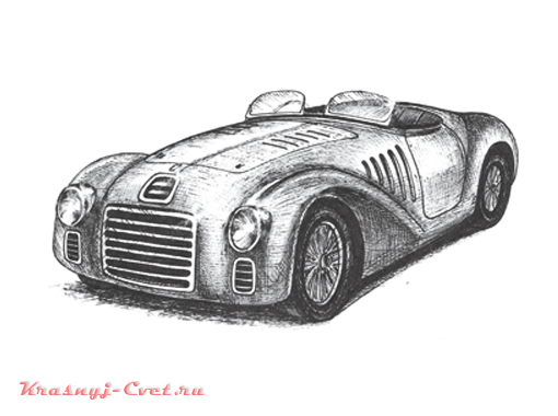 Ferrari 125 Sport 1947 года - первый красный автомобиль от Феррари