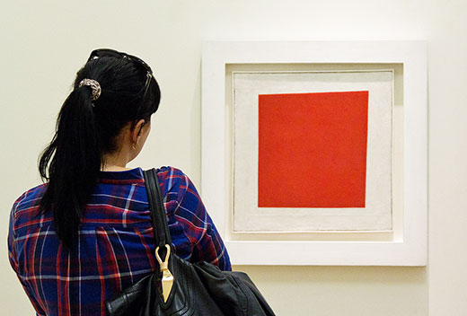 «Красный квадрат» Малевича - живописный реализм крестьянки в двух измерениях